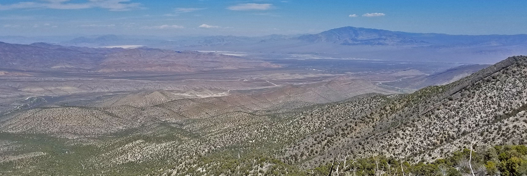 Sheep Range and Harris Springs Rd Viewed from Keystone Thrust Just West of El Padre Mountain, La Madre Mountains Wilderness, Nevada