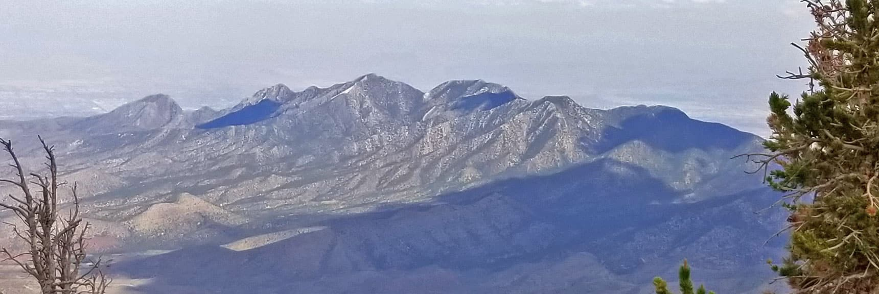 La Madre Mountain Viewed from Harris Mountain Summit | Six Peak Circuit Adventure in the Spring Mountains, Nevada