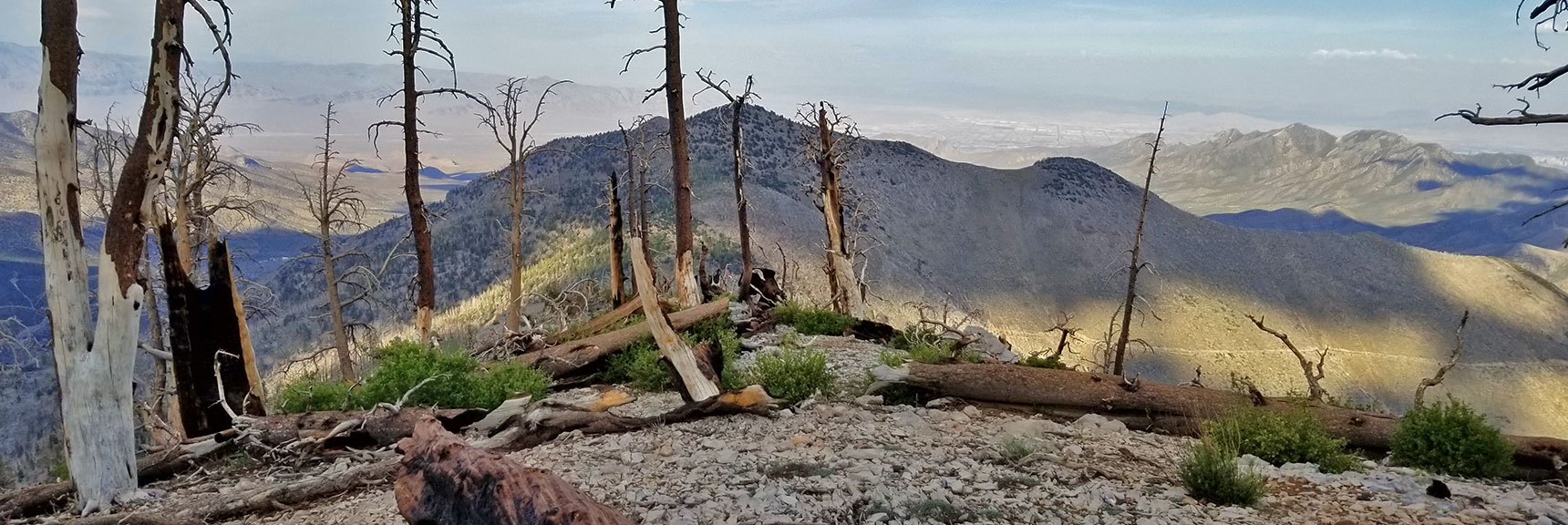 View Down Griffith Peak North Ridge to Harris Mountain | Six Peak Circuit Adventure in the Spring Mountains, Nevada