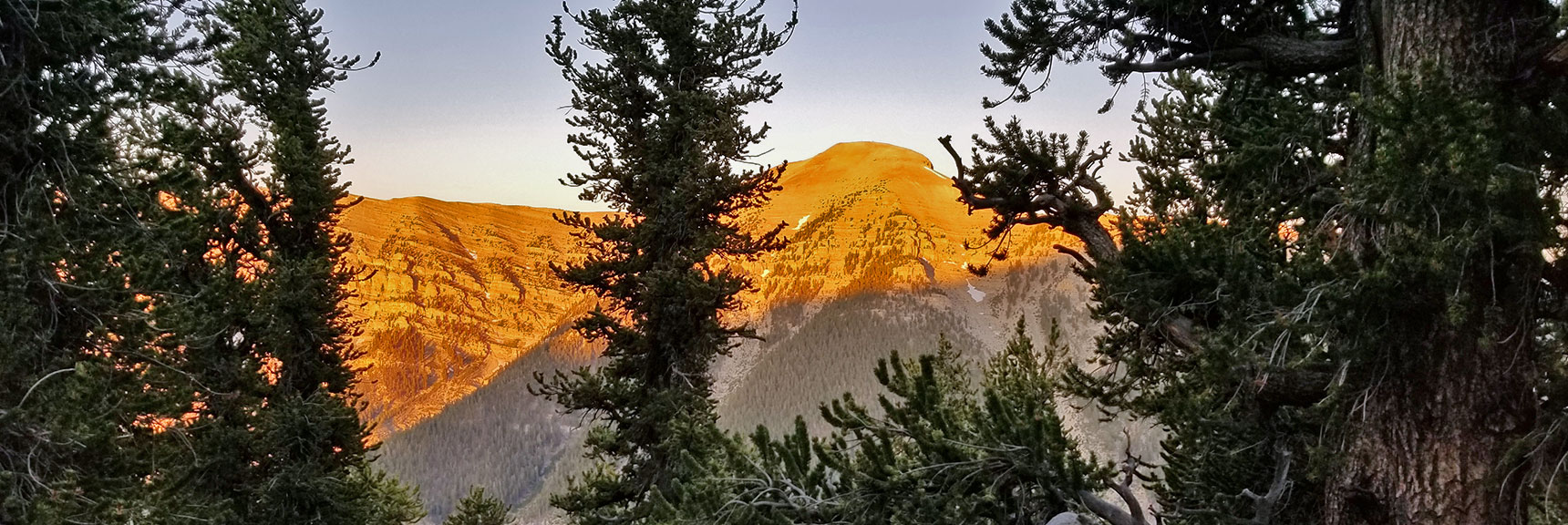 Sunrise View of Charleston Peak from the North Loop Trail | Six Peak Circuit Adventure in the Spring Mountains, Nevada