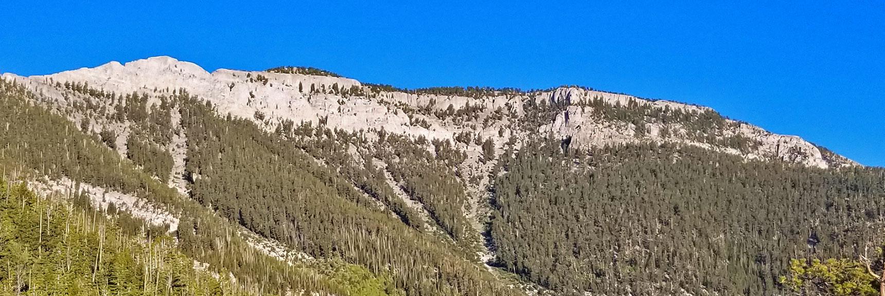 Mummy Mountain Viewed from North Loop Trail Plateau   Mummy Mountain Northeast Approach Wilderness Navigation, Nevada