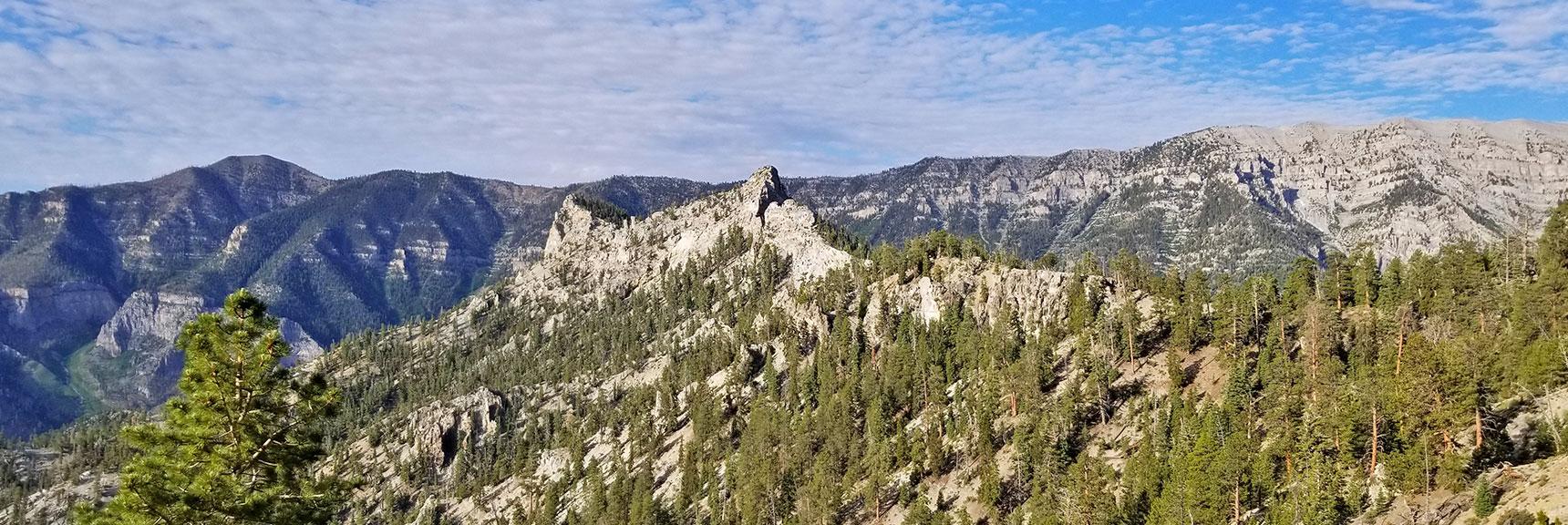 Cockscomb Ridge from the East on North Loop Trail | Mummy Mountain's Knees | Mt. Charleston Wilderness, Nevada 004