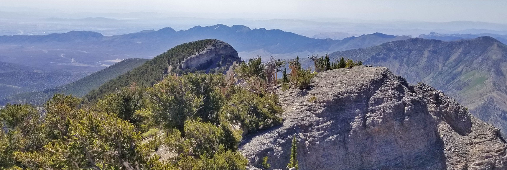 Mummy's Toes and La Madre Mountain from Mummy's Knees | Mummy Mountain's Knees | Mt. Charleston Wilderness, Nevada 024
