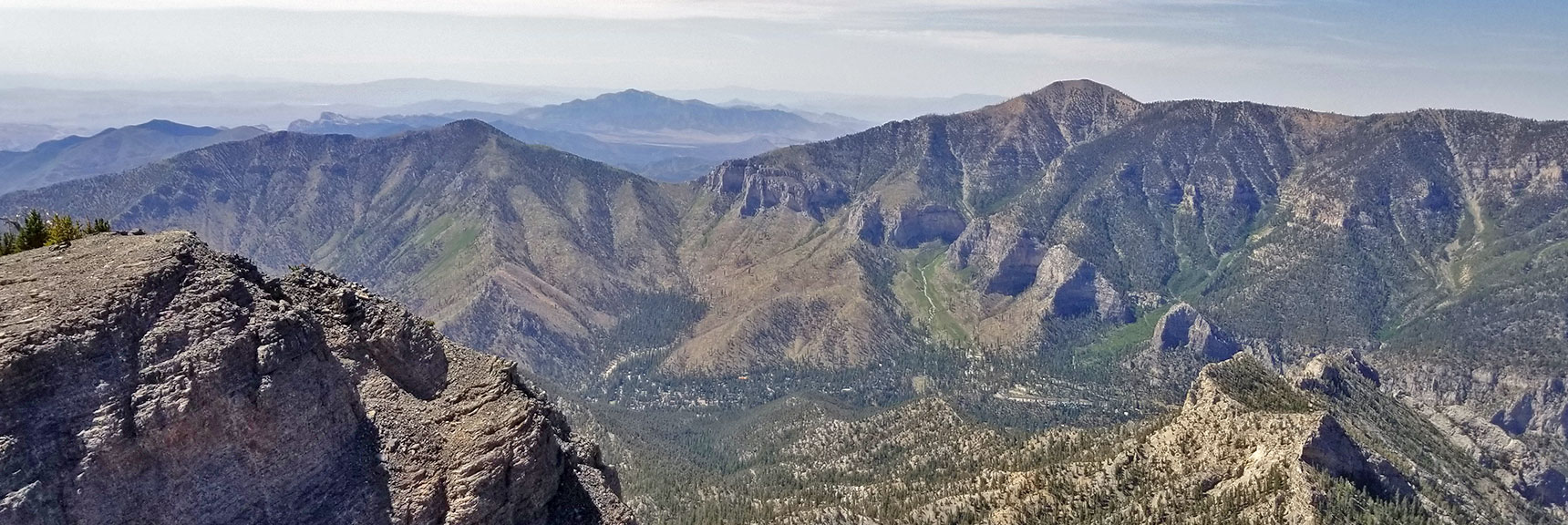 Harris Mountain, Saddle, Lovell Canyon, Potasi Mountain, Griffith Peak and Cathedral Rock from Mummy's Knees | Mummy Mountain's Knees | Mt. Charleston Wilderness, Nevada 025