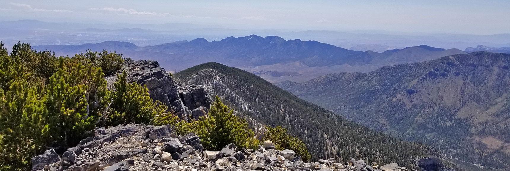 La Madre Mountain Viewed from Mummy's Toe Summit   Mummy Mountain's Toe, Mt. Charleston Wilderness, Nevada