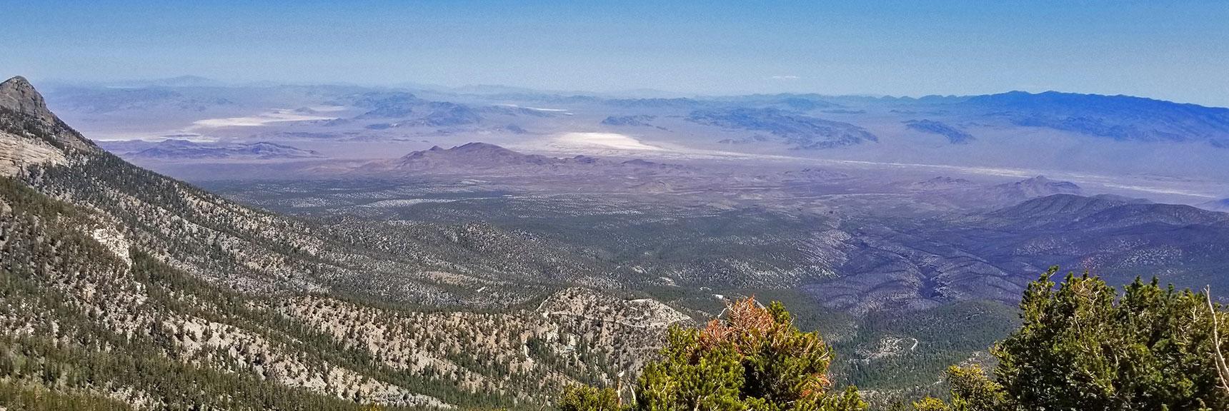 I-95 North Corridor and Sheep Range Viewed from Mummy's Toe Summit   Mummy Mountain's Toe, Mt. Charleston Wilderness, Nevada