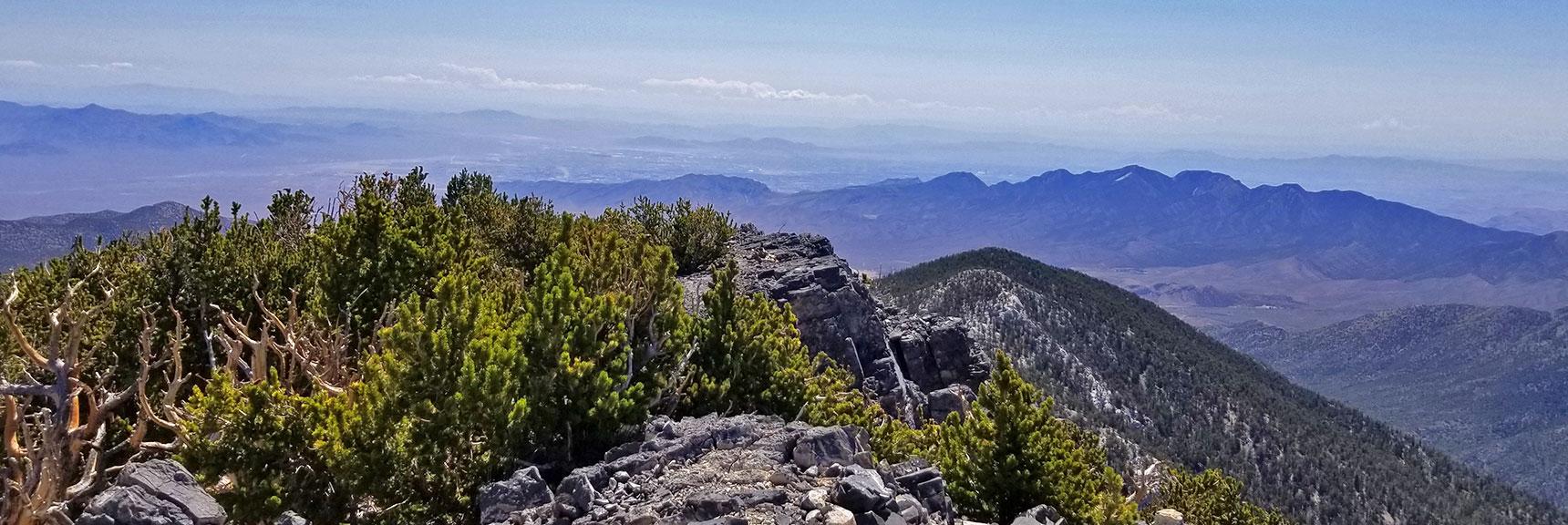 La Madre Mountain and Las Vegas Valley Viewed from Mummy's Toe Summit   Mummy Mountain's Toe, Mt. Charleston Wilderness, Nevada