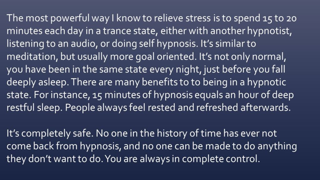 Dianna Whitley   Hypnotherapist   Top 5 Tools to Reduce Stress and Anxiety   Webinar in Achieving Your Optimal Health Webinar Series   Slide 33