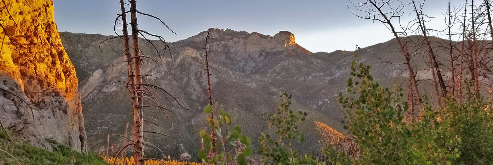 Mummy Mountain from Lower Switchbacks on South Climb Trail | Griffith Peak & Charleston Peak Circuit Run, Spring Mountains, Nevada