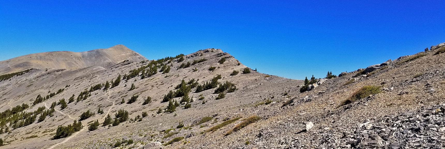 Kyle Canyon Upper South Ridge to Charleston Peak from Saddle | Griffith Peak & Charleston Peak Circuit Run, Spring Mountains, Nevada