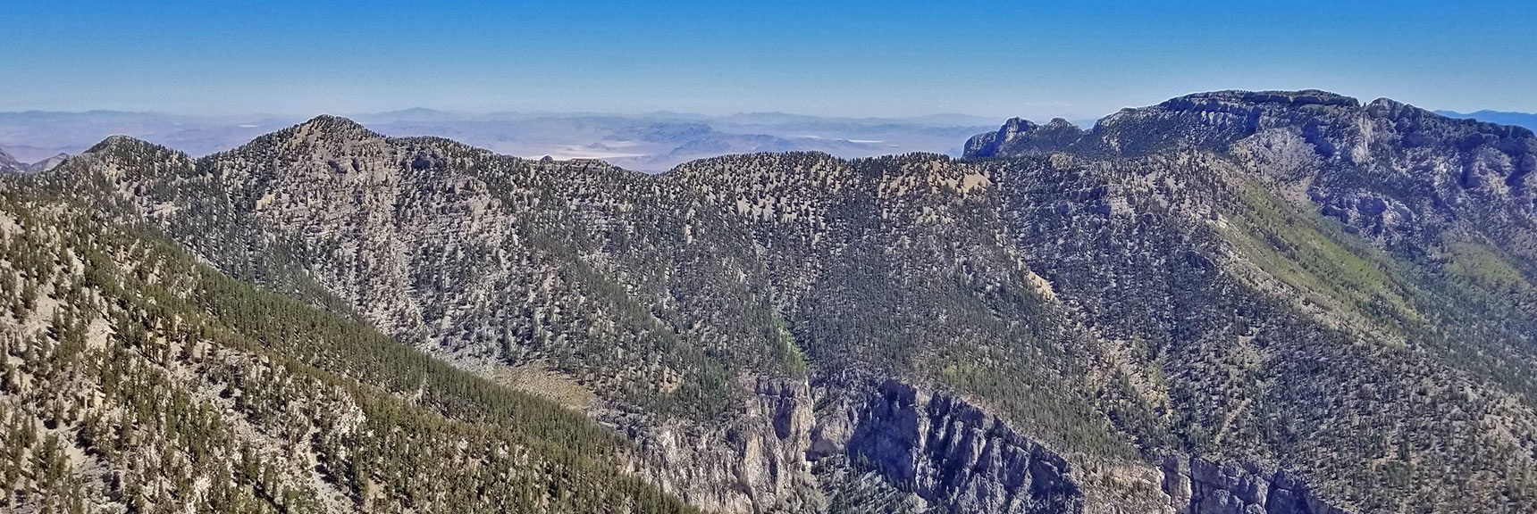 Lee Peak to Mummy Mountain from Kyle Canyon Upper South Ridge | Griffith Peak & Charleston Peak Circuit Run, Spring Mountains, Nevada