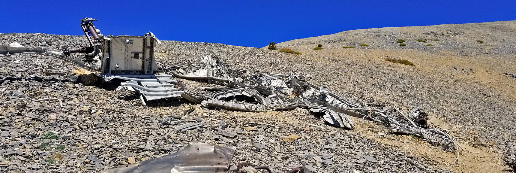 1955 C-54 Plane Wreckage Below Charleston Peak Summit | Griffith Peak & Charleston Peak Circuit Run, Spring Mountains, Nevada