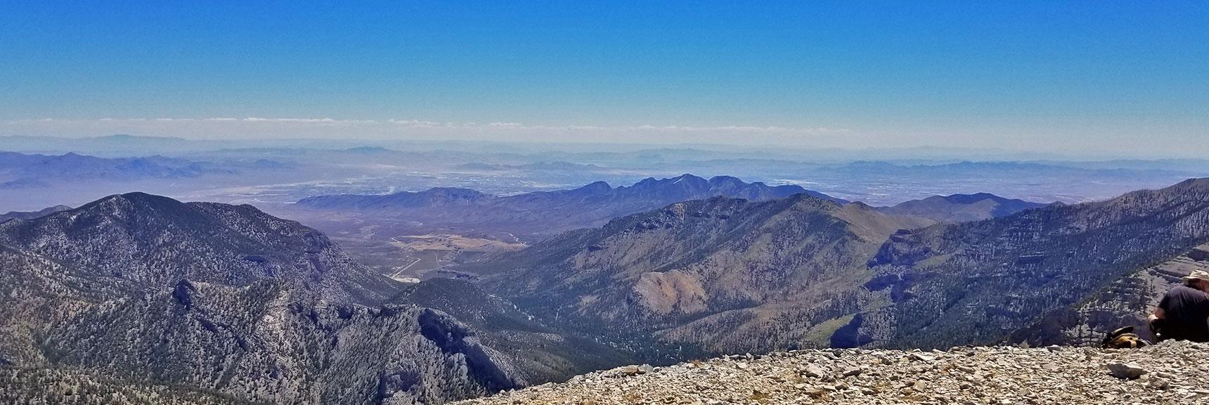 View Down Kyle Canyon from Charleston Peak | Griffith Peak & Charleston Peak Circuit Run, Spring Mountains, Nevada