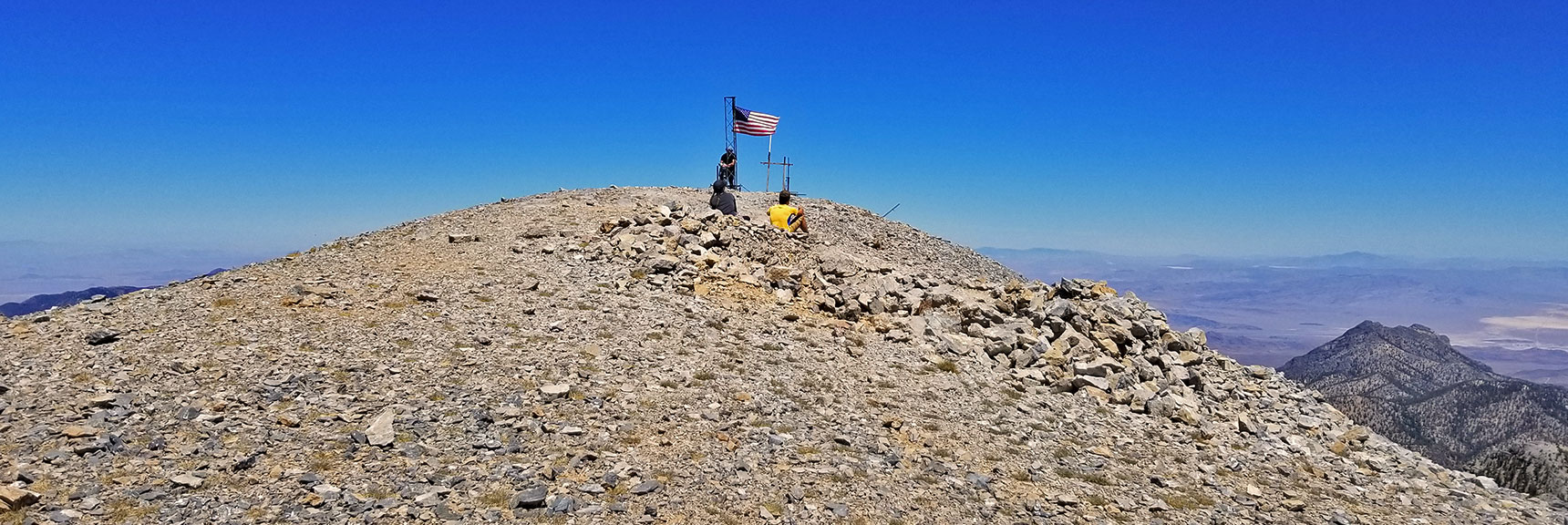 Arrival at Charleston Peak from the South | Griffith Peak & Charleston Peak Circuit Run, Spring Mountains, Nevada
