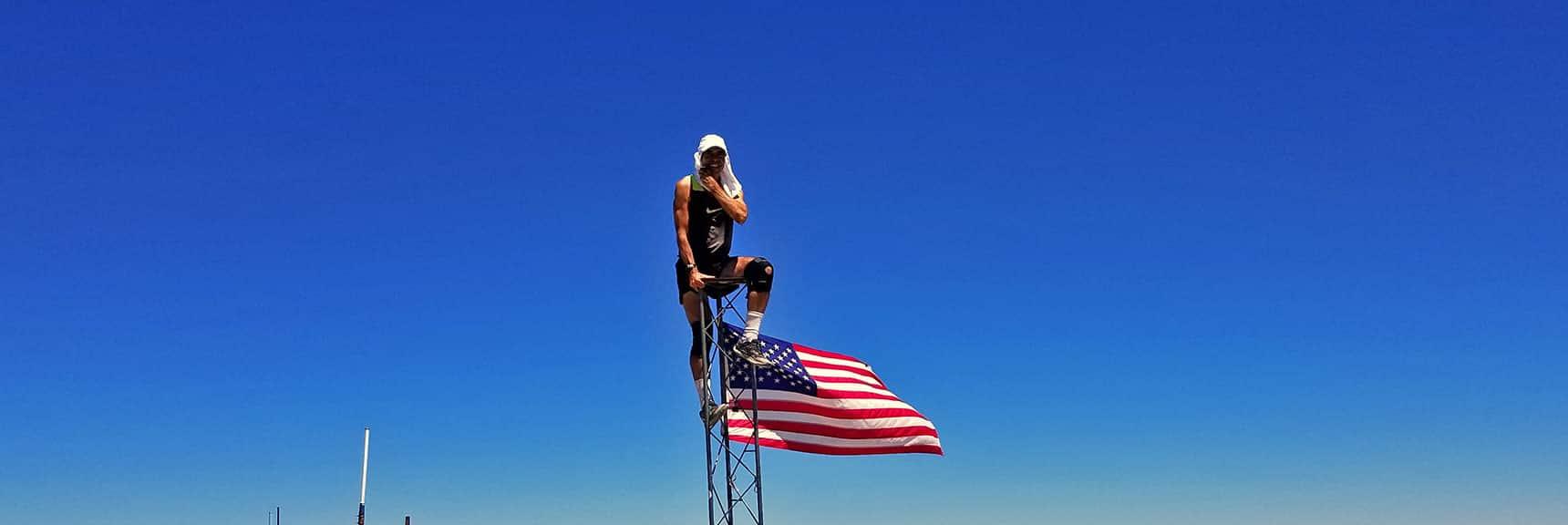 David Smith on Charleston Peak Summit | Griffith Peak & Charleston Peak Circuit Run, Spring Mountains, Nevada