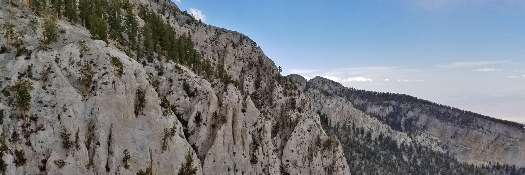Mummy Mountain Northern Cliffs   Mummy Mountain NNE, Mt. Charleston Wilderness, Nevada, Slide 025