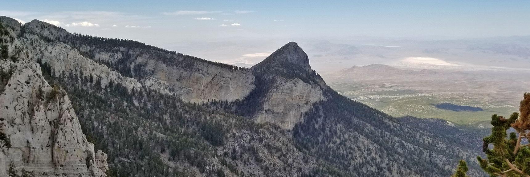 Mummy Mountain's Head Viewed from the Southeast   Mummy Mountain NNE, Mt. Charleston Wilderness, Nevada, Slide 027
