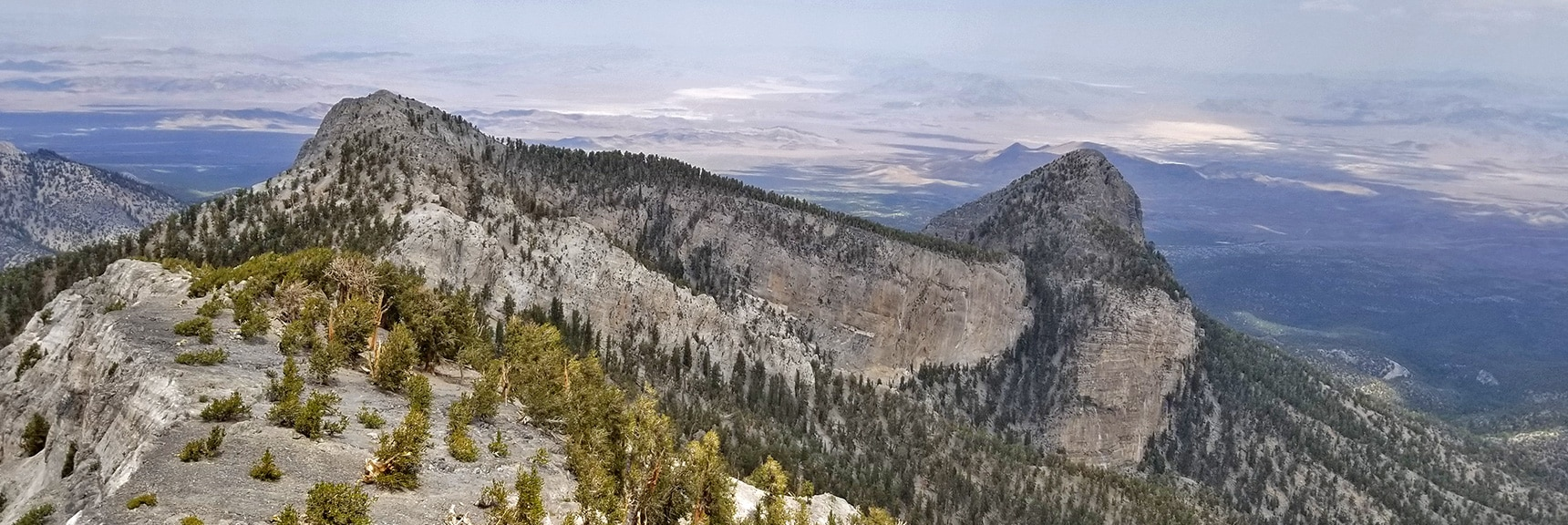 View of Mummy Mountain Head   Mummy Mountain Northern Rim Overlook   Las Vegas Area Trails