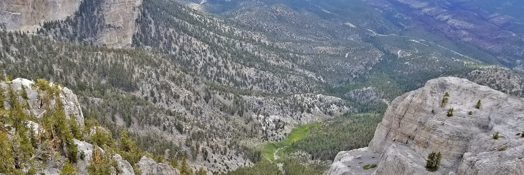 View Down the 1st Branch of the Main Northern Wash Into Lee Canyon   Mummy Mountain Northern Rim Overlook, Spring Mountain Wilderness, Nevada