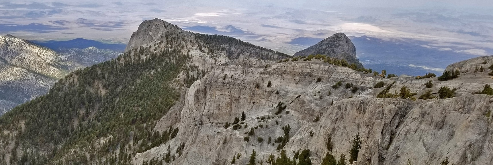 Mummy's Head from the Northwestern Cliffs   Mummy Mountain Northern Rim Overlook, Spring Mountain Wilderness, Nevada