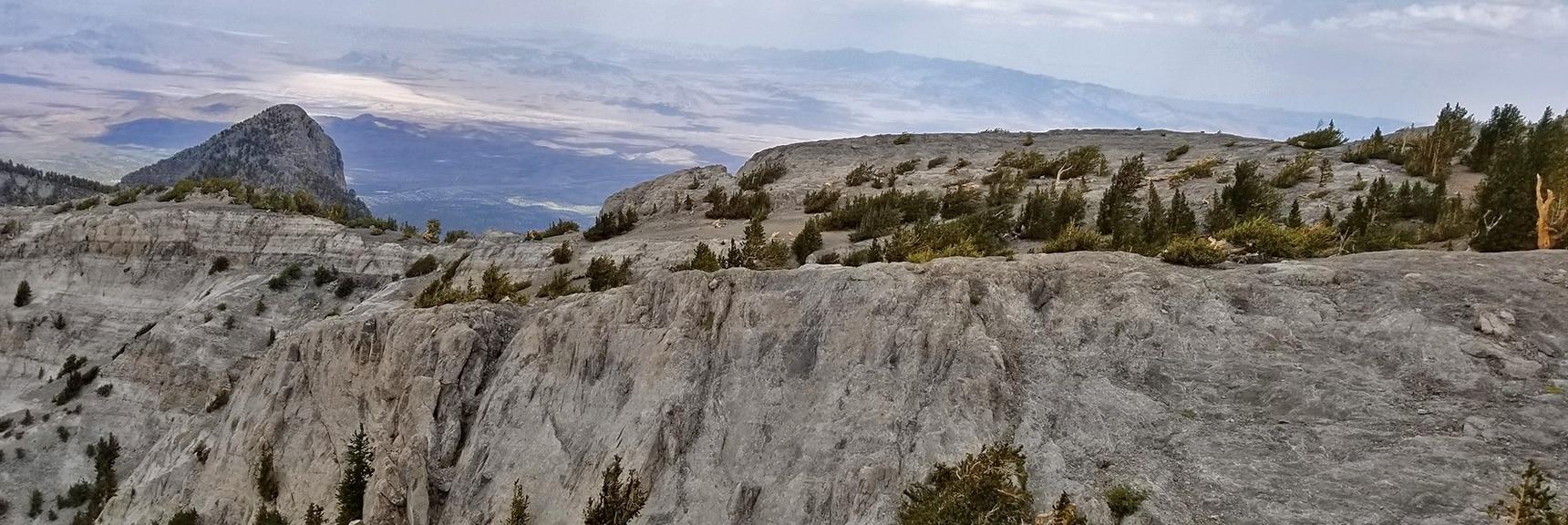 Mummy's Neck Spur Toward Mummy's Head Viewed from the West   Mummy Mountain Northern Rim Overlook, Spring Mountain Wilderness, Nevada