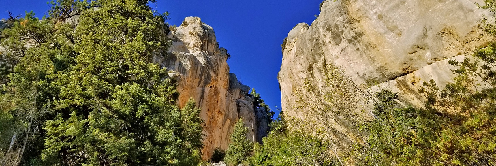 Main Climbing Area from Below | Robbers Roost and Beyond | Spring Mountains, Nevada
