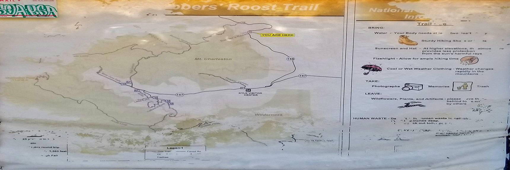 Area Map | Robbers Roost and Beyond | Spring Mountains, Nevada