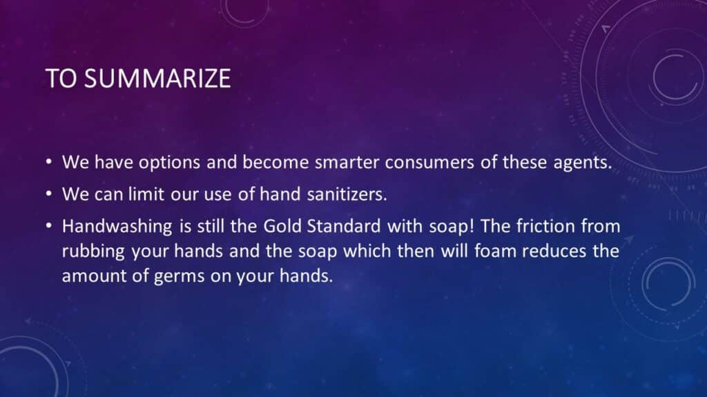 Selecting Best Hand Sanitizers, Antimicrobial Soaps and Antiseptics | Dr. Denise Tropea | Achieving Your Optimal Health Webinar Series - 009
