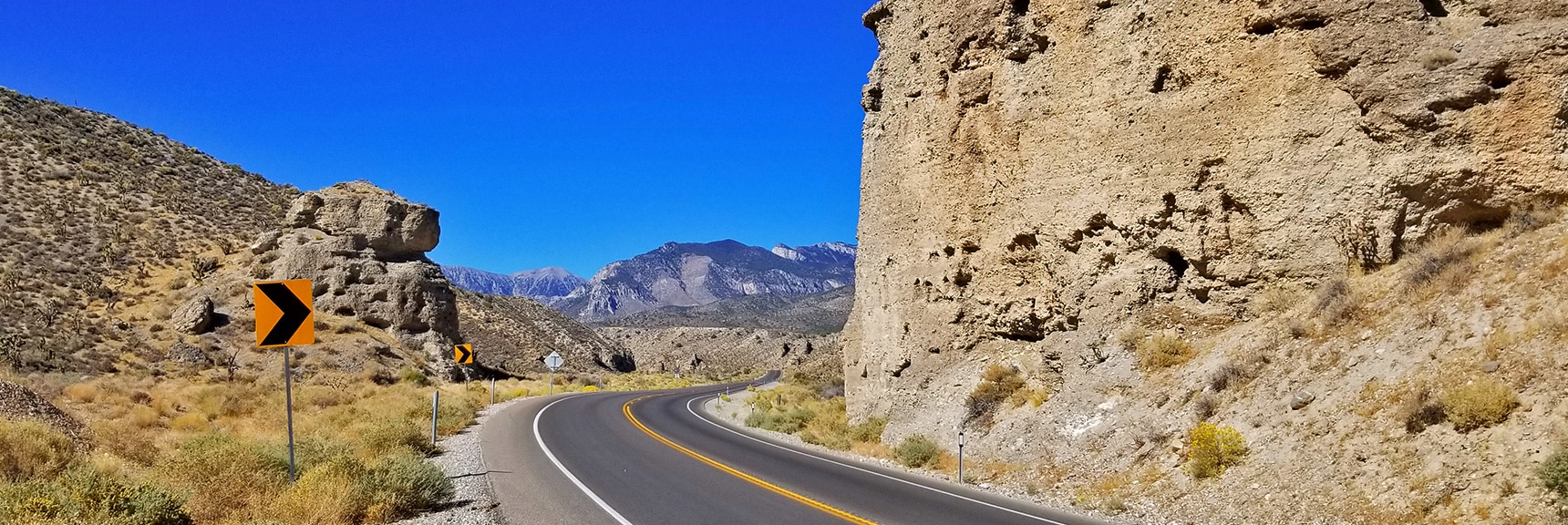 Grand Pillars on Kyle Canyon Road Opening to the Spring Mountains | Harris Springs Canyon | Biking from Centennial Hills | Spring Mountains, Nevada