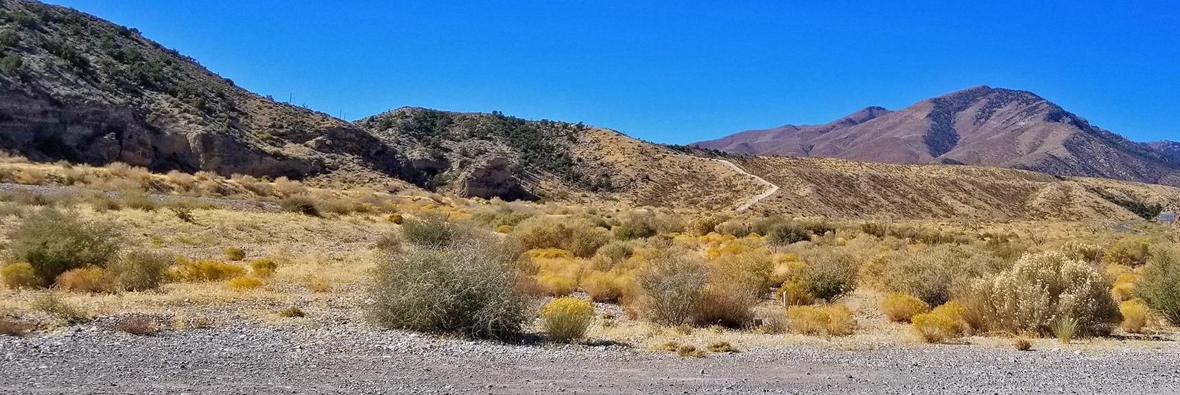 Departure Area from Kyle Canyon Rd to Harris Springs Canyon | Harris Springs Canyon | Biking from Centennial Hills | Spring Mountains, Nevada