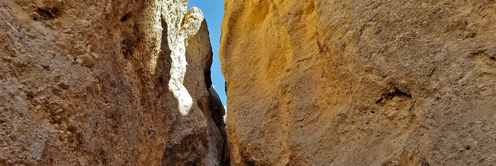 Looking Back Down a Narrow Portion of the Slot Canyon | Harris Springs Canyon | Biking from Centennial Hills | Spring Mountains, Nevada