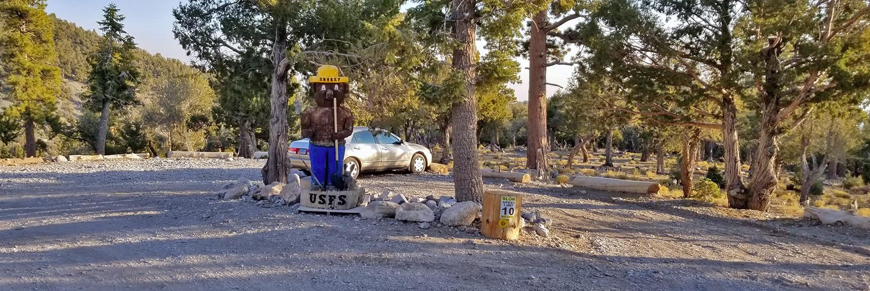 USFS Smokey the Bear Statue on Road   Mummy Mountain's Head, Mt Charleston Wilderness, Spring Mountains, Nevada 005