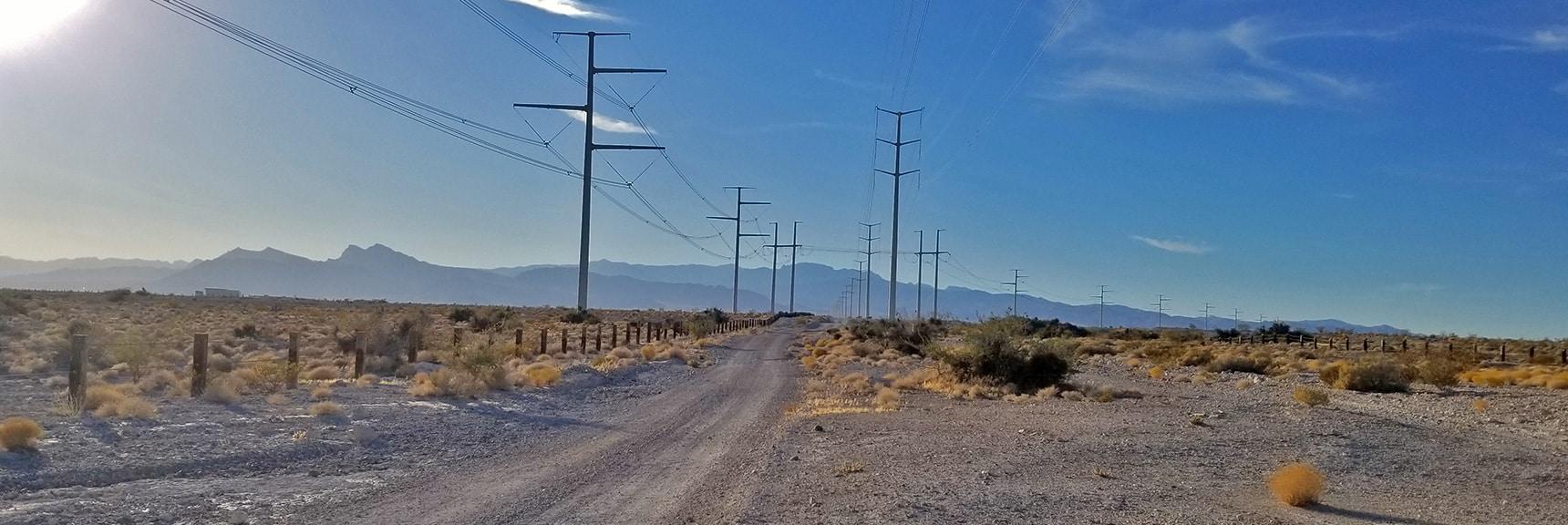Maintenance Road Along Power LInes. | Gass Peak Road Circuit | Desert National Wildlife Refuge | Nevada