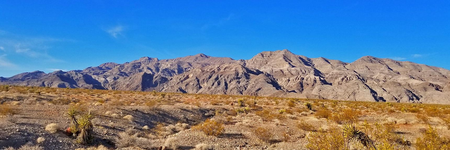 Gass Peak Viewed from Base of Pass at Power Lines | Gass Peak Road Circuit | Desert National Wildlife Refuge | Nevada