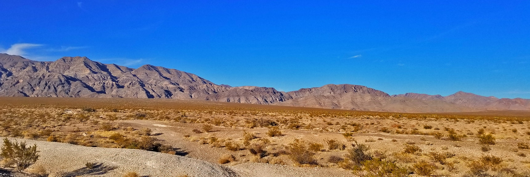 View Toward the North Las Vegas Pass Through Gass Peak Area | Gass Peak Road Circuit | Desert National Wildlife Refuge | Nevada