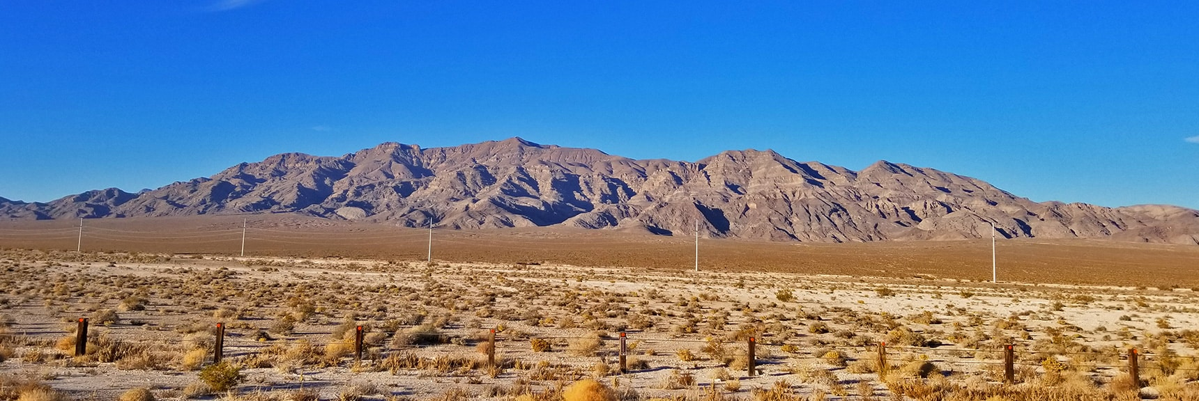 Final Look at South Side of Gass Peak from Beginning of Grand Teton Road Somewhere Above Aliente Casino. | Gass Peak Road Circuit | Desert National Wildlife Refuge | Nevada