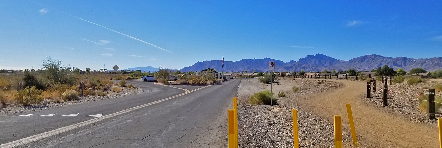 Heading Out the Main Entrance of Floyd Lamb Park on Brent St   Centennial Hills Mountain Bike Conditioning Adventure Loop, Las Vegas, Nevada