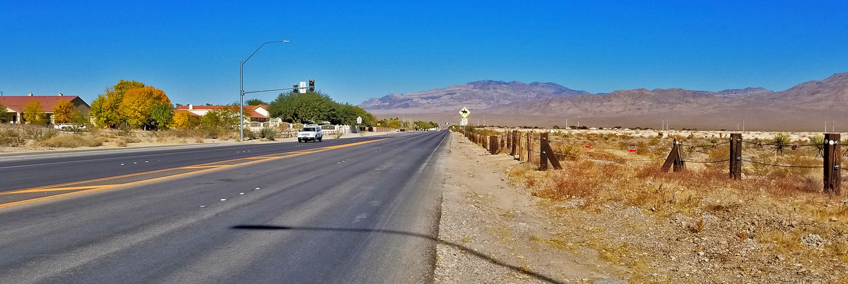 Heading North on Durango Toward Its Northern End   Centennial Hills Mountain Bike Conditioning Adventure Loop, Las Vegas, Nevada