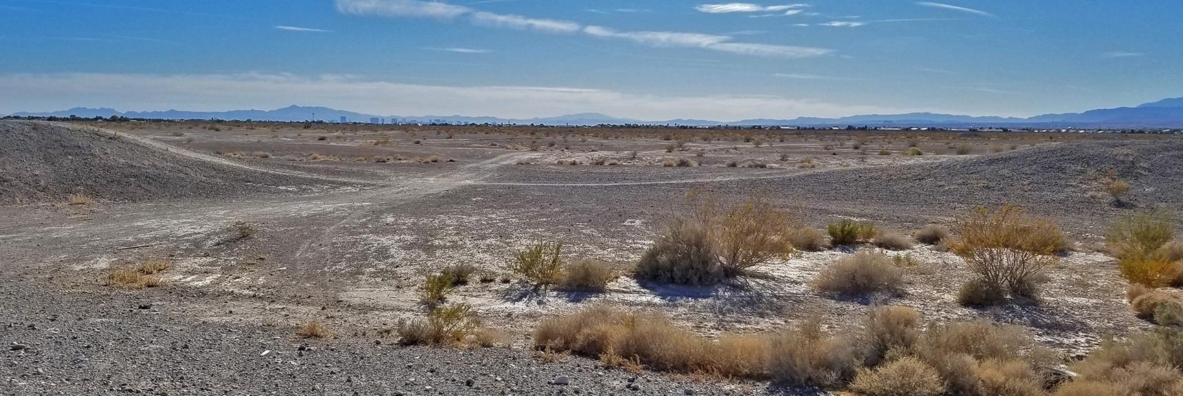 Heading South Across the Desert Back Toward Silverstone Estates   Centennial Hills Mountain Bike Conditioning Adventure Loop, Las Vegas, Nevada
