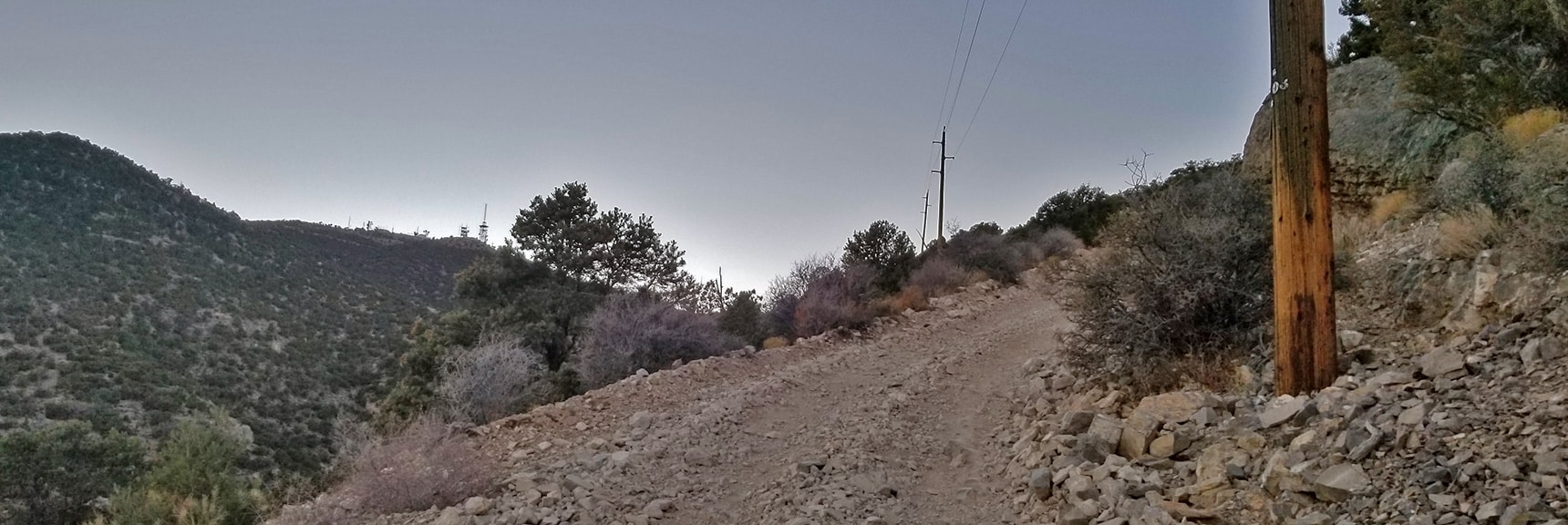 Approaching Angel Peak on Lucky Strike Road. Road Becomes a