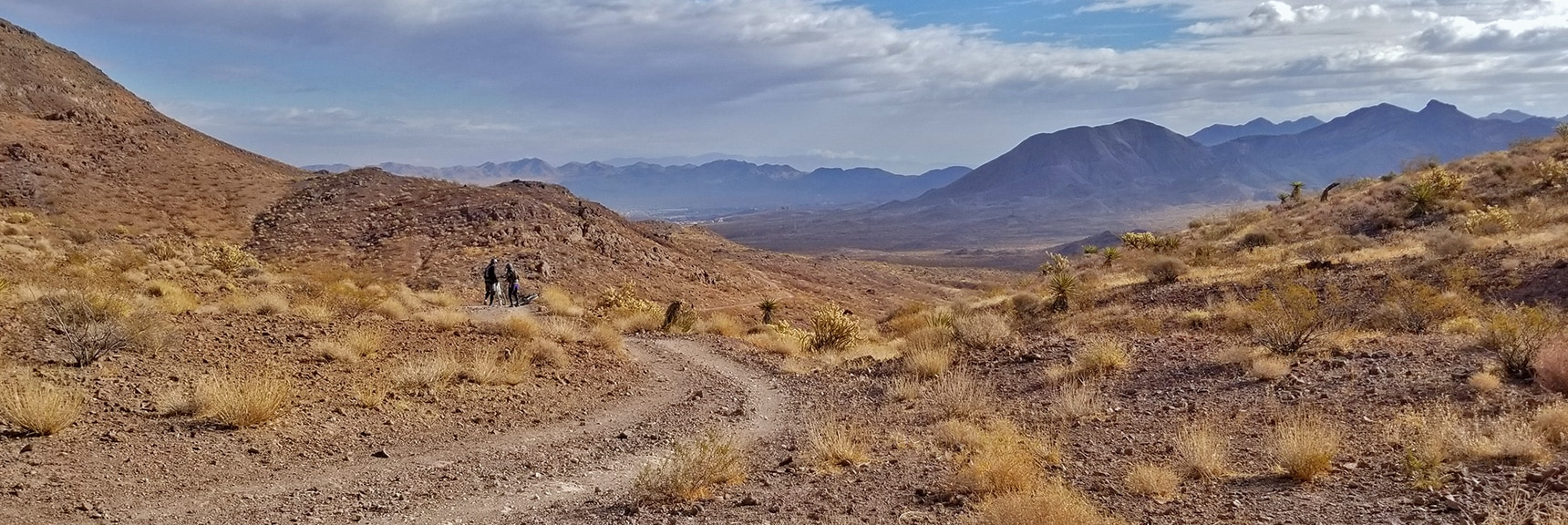 Looking Back Toward Henderson, the Lake Mead Area and Beyond   McCullough Hills Trail in Sloan Canyon National Conservation Area, Nevada