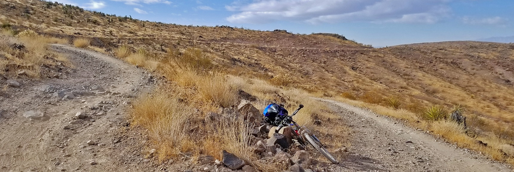 Navigating Switchbacks as the Angle of Elevation Increases   McCullough Hills Trail in Sloan Canyon National Conservation Area, Nevada