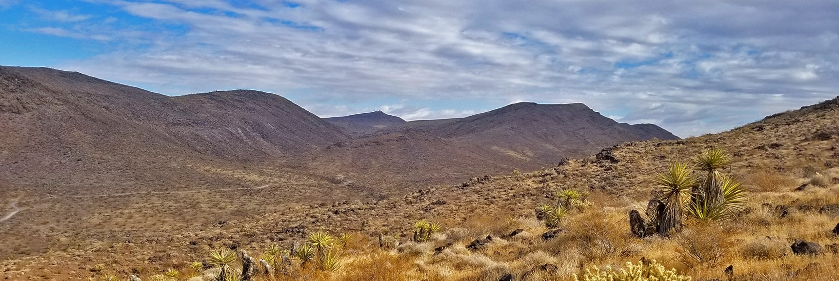 Looking Back Toward the Trailhead   McCullough Hills Trail in Sloan Canyon National Conservation Area, Nevada