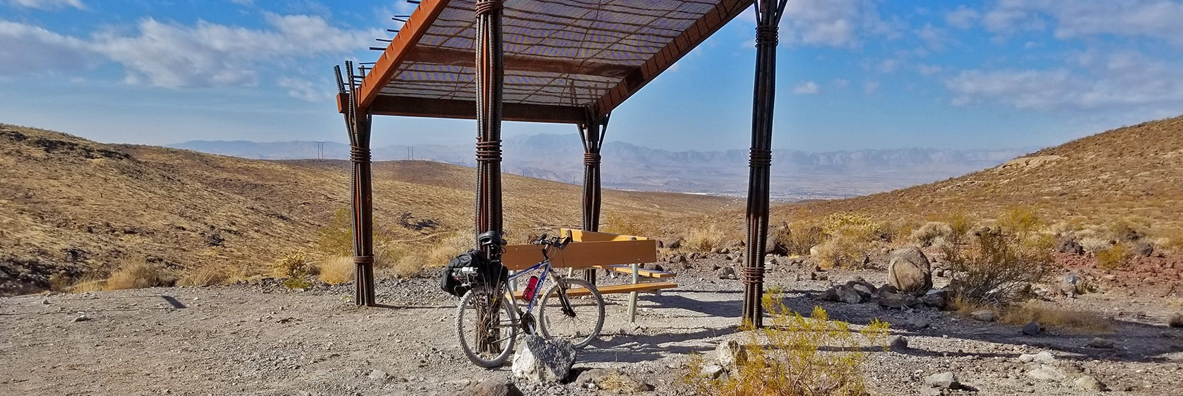 One of a Few Shelters Along the Trail   McCullough Hills Trail in Sloan Canyon National Conservation Area, Nevada
