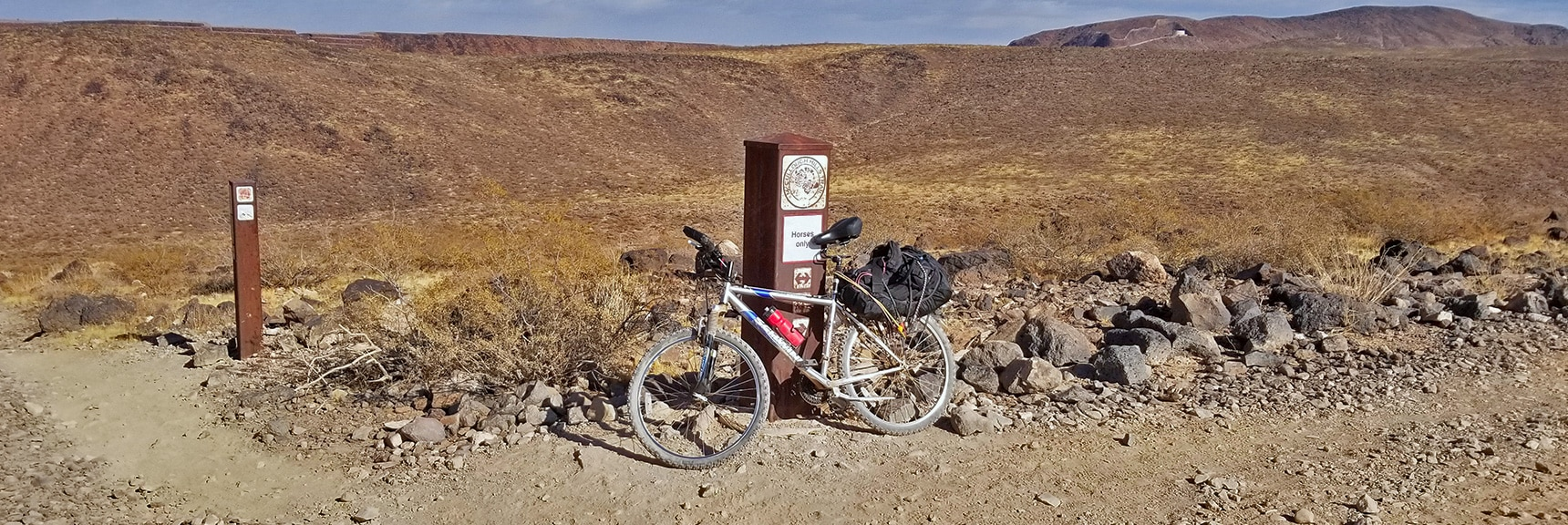 Horse Trail Crossing on the McCullough Hills Trail   McCullough Hills Trail in Sloan Canyon National Conservation Area, Nevada