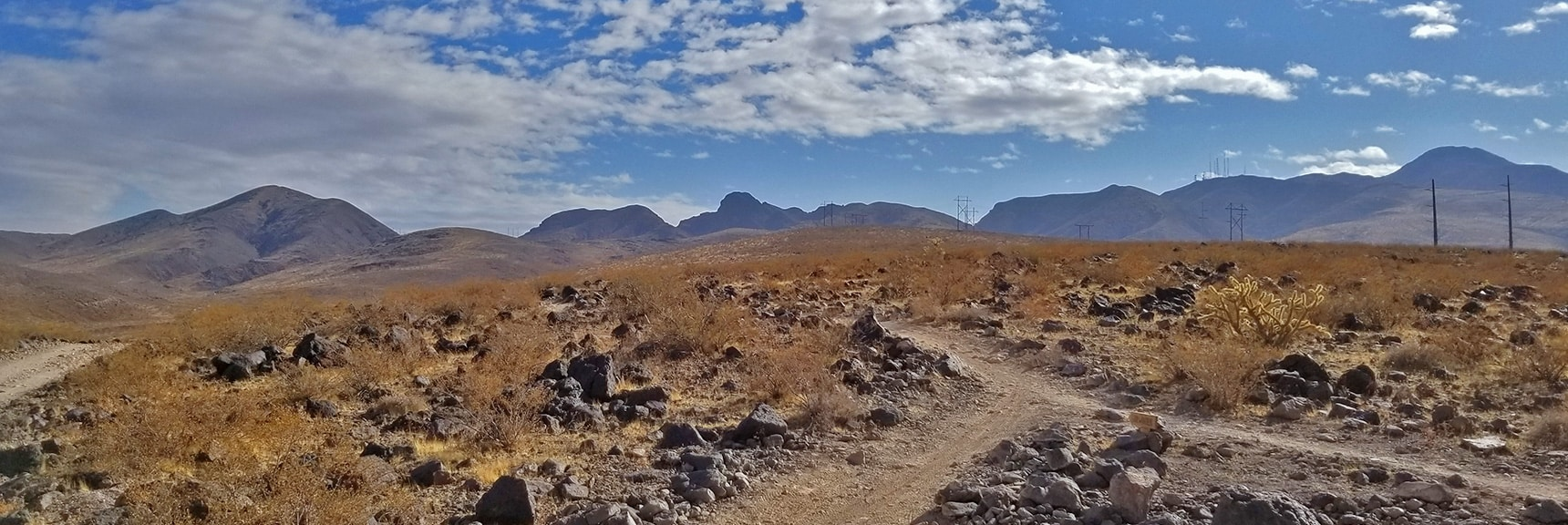 View Back Up the Trail from Near Anthem   McCullough Hills Trail in Sloan Canyon National Conservation Area, Nevada
