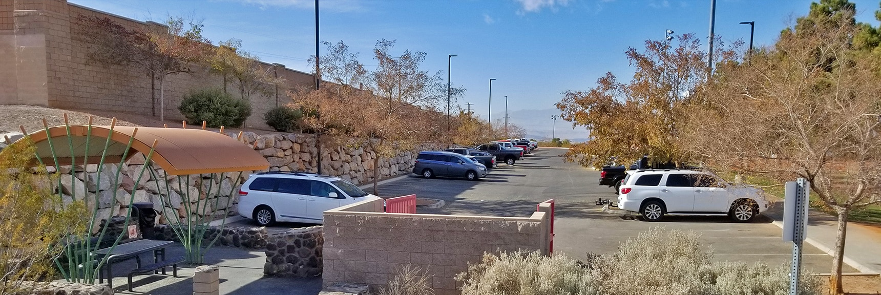 Arrival at the Trailhead in Anthem. Recommend Taking the Paved Anthem East Trail for the Final 3/4 Mile  McCullough Hills Trail in Sloan Canyon National Conservation Area, Nevada