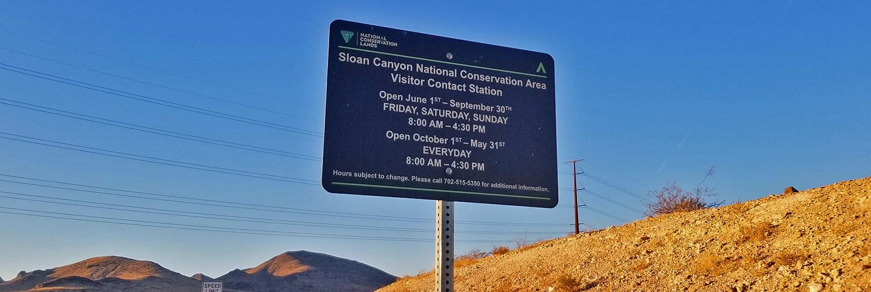 Petroglyph Canyon Open Hours | Petroglyph Canyon | Sloan Canyon National Conservation Area, Nevada