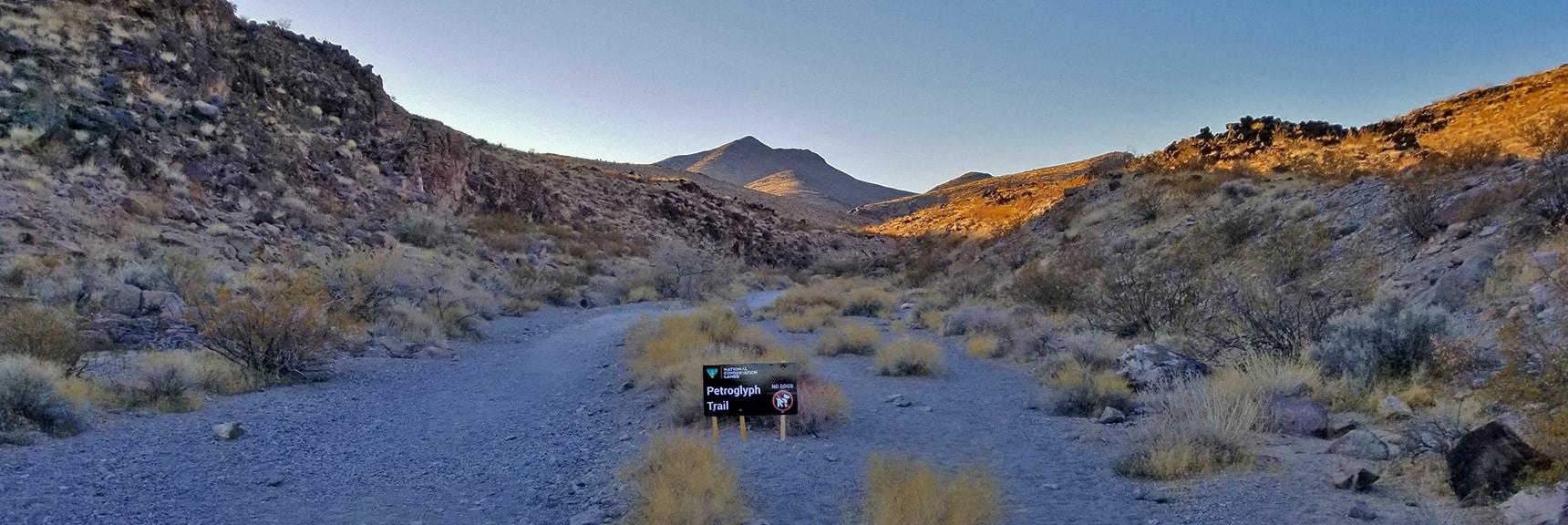 Heading Up Lower Petroglyph Canyon | Petroglyph Canyon | Sloan Canyon National Conservation Area, Nevada
