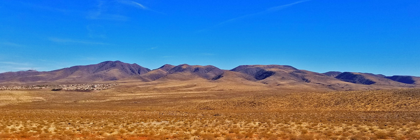 McCullough Hills Volcanic Area from Trailhead | Petroglyph Canyon | Sloan Canyon National Conservation Area, Nevada